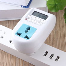 EU Plug New Energy Saving Timer Programmable Electronic Timer Socket Digital Timer Household Appliances For Home Devices(China)