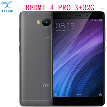 "Original Xiaomi Redmi 4 PRO Mobile Phone 4100mAh Battery Fingerprint ID Snapdragon 625 Octa Core 5"" 720P 13MP Camera Metal Body(China)"