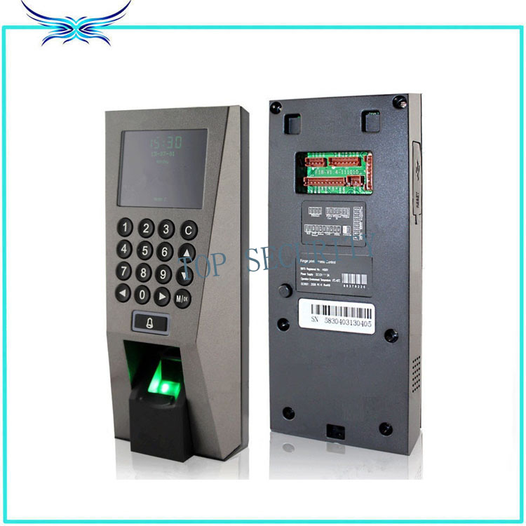 F18 fingerprint access control with FR1200 fingerprint reader for exit and enter full door access control system with software