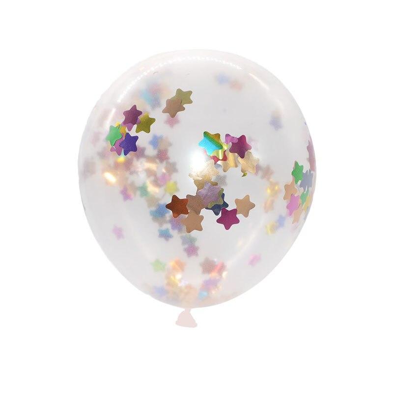 5pcs 12inch Balloon Party Wedding Decoration Multicolor Confetti Balloon Thickening Pear Ballons Decoration Birthday 16