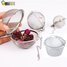 4 Sizes Tea Strainer Stainless Silver Reusable Stainless Tea Spice Mesh Herbal Ball Teakettle Locking Tea Filter Cooking tools
