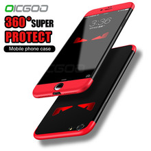 OICGOO Luxury 360 Degree Protection Full Cover Case For iphone 6 6s Plud 7 Case Back Protection Cover For iphone 7 7 plus Cases(China)