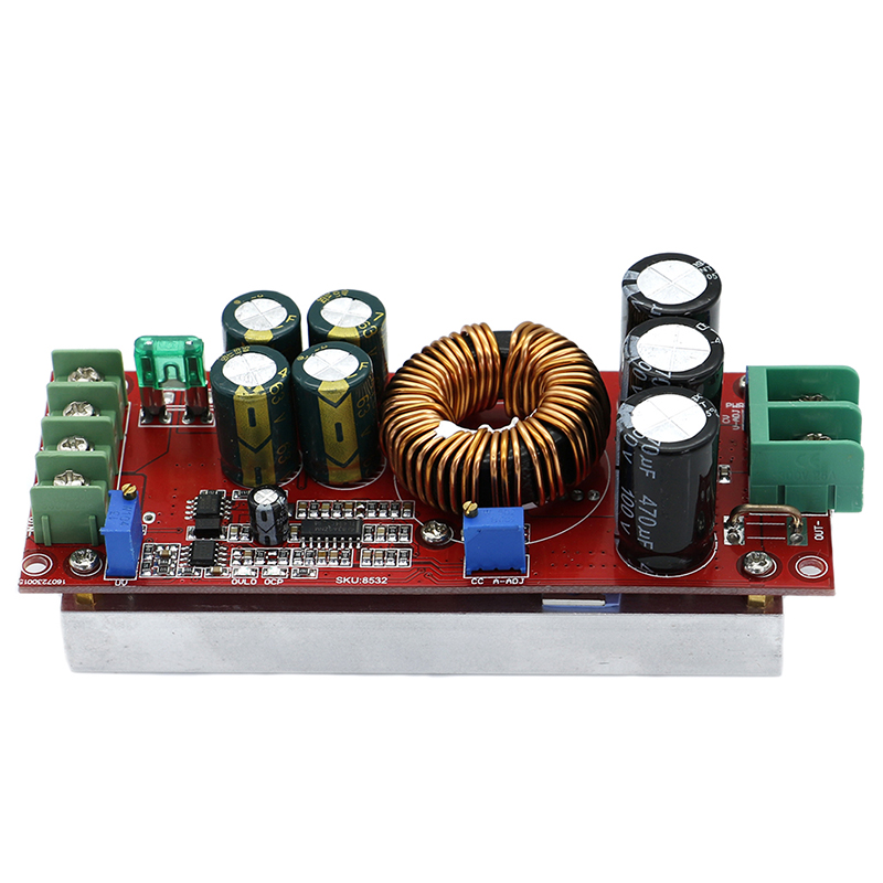 DC-DC Converter 20A 1200W Step Up Step Down Buck Boost Module 8-60V To 12-83V
