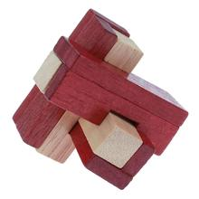 Children/Adult Anti-Stress Toy Wooden Chinese Kongming Luban Lock Traditional Puzzle Intellectual Brain Teaser Toy(China)