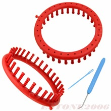 New Classical Round Circle Hat Red Knitter Knifty Knitting Knit Loom Kit 19CM JJ2834
