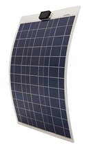 DE stock,50W poly semi-flexible solar panel, 50 watt flexible solar panel for yacht boat RV(China)