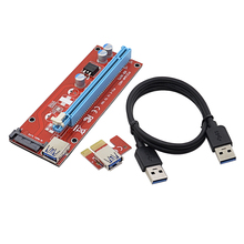 NOTAYO 5pcs 0.6M PCI-E 1Xto 16X Riser Card Extender PCI Express Converter+USB 3.0 Cable/15Pin SATA Power Connector for BTC Miner