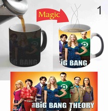 The Big Bang Theory mugs Magic mug transforming heat reveal cup cold hot heat changing color magic mug tea cups