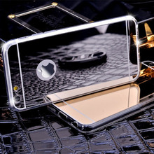 Electroplating Mirror Flash TPU Case For iPhone 7 6 6S Plus 5 5S 4 4S for Samsung Galaxy S3 S4 S5 S6 S7 Edge Plus Note 3 4 5