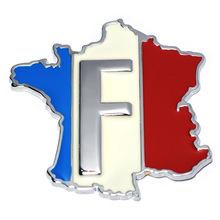 3D Metal France Flag Car Sticker Accessories Stickers for Renault Peugeot Citroen Cruze Chevrolet Ford Focus VW Golf Benz BMW(China)