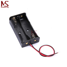 10PCS Plastic Battery Case Storage Box Holder with Wire Leads for 2 X AA 3.0V 2AA(China)