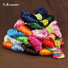 Meetcute 20M/Pack South Korea Rope String Thread Chinese Knot Wire For Bracelet Diy Jewelry Accessories Braided Rope Wholesale(China)