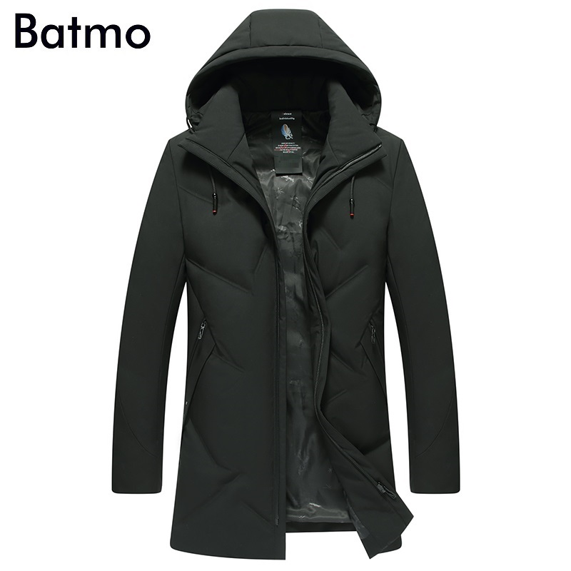 Batmo 2018 new arrival winter high quality 90% white duck down casual hooded jackets men,men' warm winter coat plus-size 9815