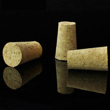 Hot sell 10pcs/lot Tapered Round Cork bottle stopper Plugs Beer Wine Corks Stopper corcho cork flattened bottle caps diy,Z4626(China)