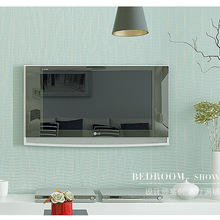Plain nonwoven wallpaper shop for modern living room bedroom TV background wallpaper straw solid@ifashion2014