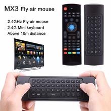 MX3 Mini 2.4G Wireless Keyboard Infrared Remote Learning Remote Control For Andriod TV Box HTPC IR Keyboard Remote