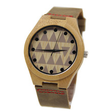 Handmade Mens Solid Bamboo Wood Watch Made with Natural Coffe Sandalwood Fashion Wristwatches With Gift Box