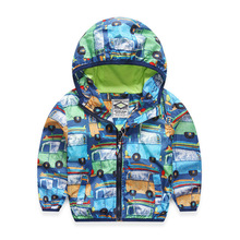VORO BEVE Autumn New Fashion children's Windproof rain jacket kids hoodies boys casual print car jackets and coats(China)