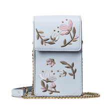 Floral Women Clutch Lady Flower Day Clutches Female Purses Girls Crossbody Cellphone bags Messenger bag wallet bolsa feminina