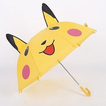 New 3D Pokemon Pikachu Compact Folding Umbrella All Over Print Catoon Child Rain Tool