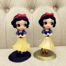 1pc Princess doll 14cm Snow white figures DIY Cake decoration toys play house Toys for girls(China)