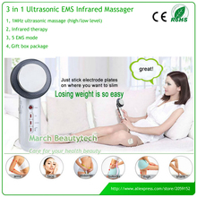 Portable Electric 3 in 1 Ultrasonic EMS Micro-Current Far Infrared Body Slimming Massager Beauty Machine Anti Cellulite(China)