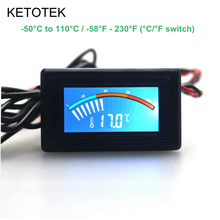 -50~110C -58~230F LCD Digital Thermometer Temperature Meter for Car Computer Refrigerator Temperature Monitor(China)