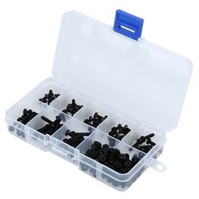160pcs M3 Stainless Steel Button Head Bolt Hex Socket Screw Cap Black Assortment Kit Hardware Accessories FULI(China)