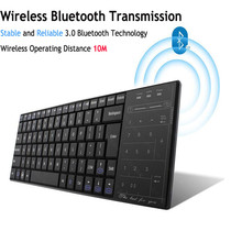 2016 New Utra-thin Mini Wireless Keyboard Bluetooth Gaming Touchpad Board For Windows IOS Android PC Tablet(China)