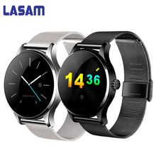Buy Original LASAM Bluetooth Smart Watch Blood Pressure Heart Rate Monitor Sport Smart Wristband Apple Huawei IOS Android PK M7 for $90.00 in AliExpress store