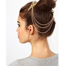 Elegant retro palace golden hair accessories hairpin comb female top clamp 892M