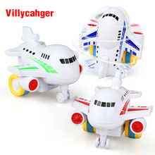 X-cool 1 Pcs Children Toys Colorful Mini Inertia Model Airplane Cartoon Gift Friction Toy for boy 1-3 years(China)