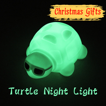 New Design High Quality Turtle Night Light Color Changing LED Mood Lamp for Children Christmas Gift Home Party Decoration