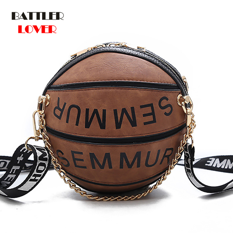 Basketball Shape Bags for Women 2019 Bags Women Handbag Bolsa Feminina Shoulder Messenger Bag Luxury Handbag Woman Crossbody Bag