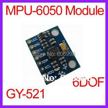 5pcs/Lot GY-521 MPU-6050 Module 6DOF Module 3 axis Accelerometer 3 axis Gyro with Code Schematic Free Shipping