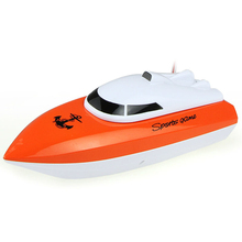 orange Radio Remote Control Super Mini Speed Boat Dual Motor Kid Toy Free shipping boat candy