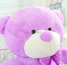 Wholesale  Teddy Bear plush toy  140cm  birthday Valentine's Day gift  Purple Factory outlets plush toy doll  woman Lavender