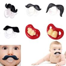 Novelty Baby Pacifier Funny Dummy Nipple Teether Soother Toddler Pacy Orthodontic Teat Silicone Infant Kids Feeding Products