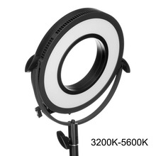 "New Professional LED Panel C-318RLS 10"" Bi-color Beauty Camera Ring Light Stepless Dimming Photographic Edge Lighting Video Lamp(China)"