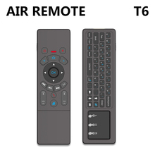Latest T6 Air mouse with Wireless Keyboard   touchpad Remote Control for SmartTV Android TV Box mini PC HTPC Projector
