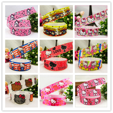 YJHSMY 1491188,free shipping 22mm Hello kitty  printed grosgrain ribbon,Clothing accessories,DIY jewelry wedding package