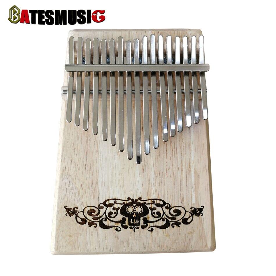 BATESMUSIC M2 17 Key  Kalimba African Thumb Piano Finger Percussion Keyboard Music Instruments Kids Thailand oak<br>