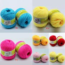 Hot sale Worsted Super Soft Smooth Natural Silk Wool Baby yarn for knitting sweater knitting Yarn
