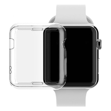 Besegad TPU Abrasion-resistant Anti-scratch Protector Case Cover Skin Shell for Apple Watch iWatch Series 2 3 38mm 42mm Clear