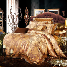 100% modal Natural Green Satin Jacquard four piece bedding package for special offer 1.8 meters bed