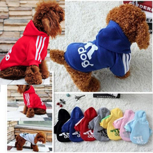 Hote Sale Autumn And Winter Dog Clothes Pets Coats Pet Products Soft Cotton Puppy Dog Clothes For 7 colors Cheaper Size:XS-2XL