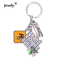 PS4 GTA 5 Game keychain Hot Sale ! Grand Theft Auto 5 Key Chain For Fans Xbox PC Rockstar Key Holder 4.5cm Jewelry Llaveros