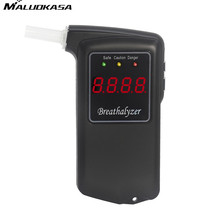 MALUOKASA Alcohol Tester Breath LCD Alcohol Detector Breathalyzer Alcotester Digital ABS Potable Policeman Drunk Tester AT-858S(China)
