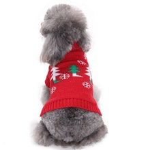 Red Christmas Dog Clothes Winter Warm Christmas Tree Dog Sweaters  For Small Dog Pet Clothing Cat Coat Kitten Apparel XS-XXL
