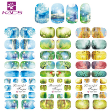 KADS HOT340-342 Wonderful Forest Nail Art Water Transfer Stickers DIY for Beauty Nail Art Decals Decorations Nail Art Tools(China)